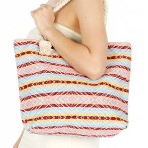 IKate Mult Color Canvas Beach Tote